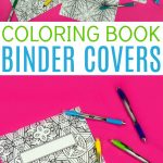 Coloring Book Binder Covers  Free Printable   A Little Craft In Your Day   Free Printable Binder Covers To Color