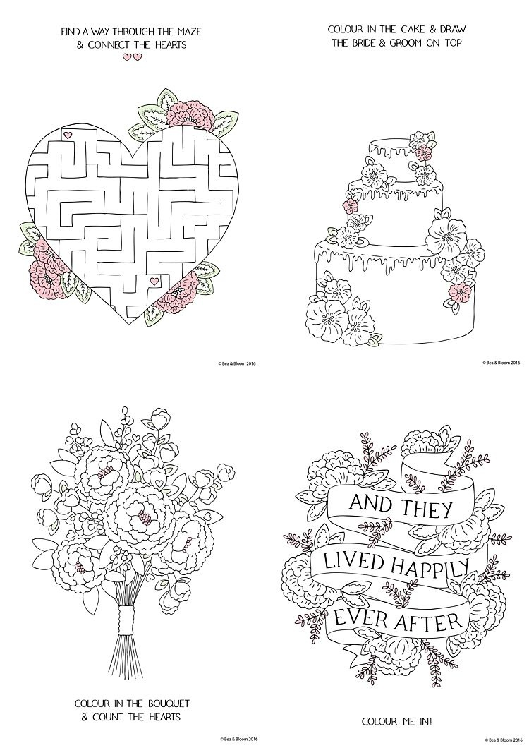 Coloring Book World ~ Free Download Printable Wedding Colouring - Wedding Coloring Book Free Printable