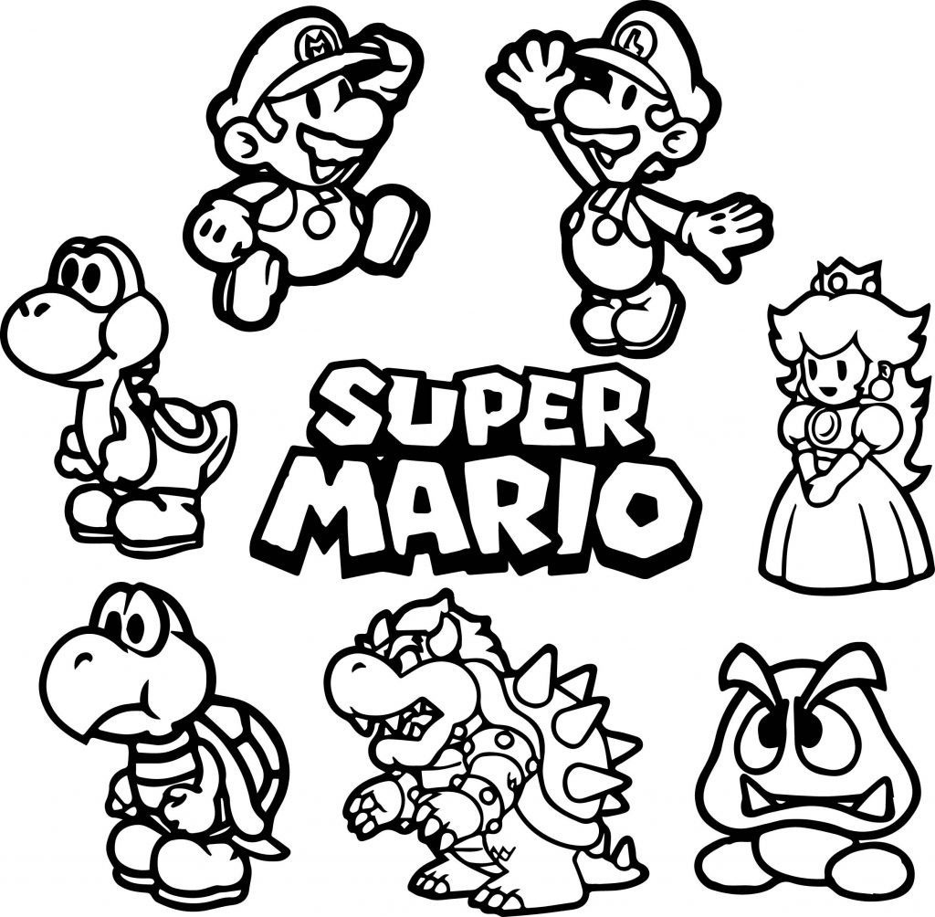 Coloring Book World ~ Mario Bros Coloring Pages Dayleswood Com - Mario Coloring Pages Free Printable