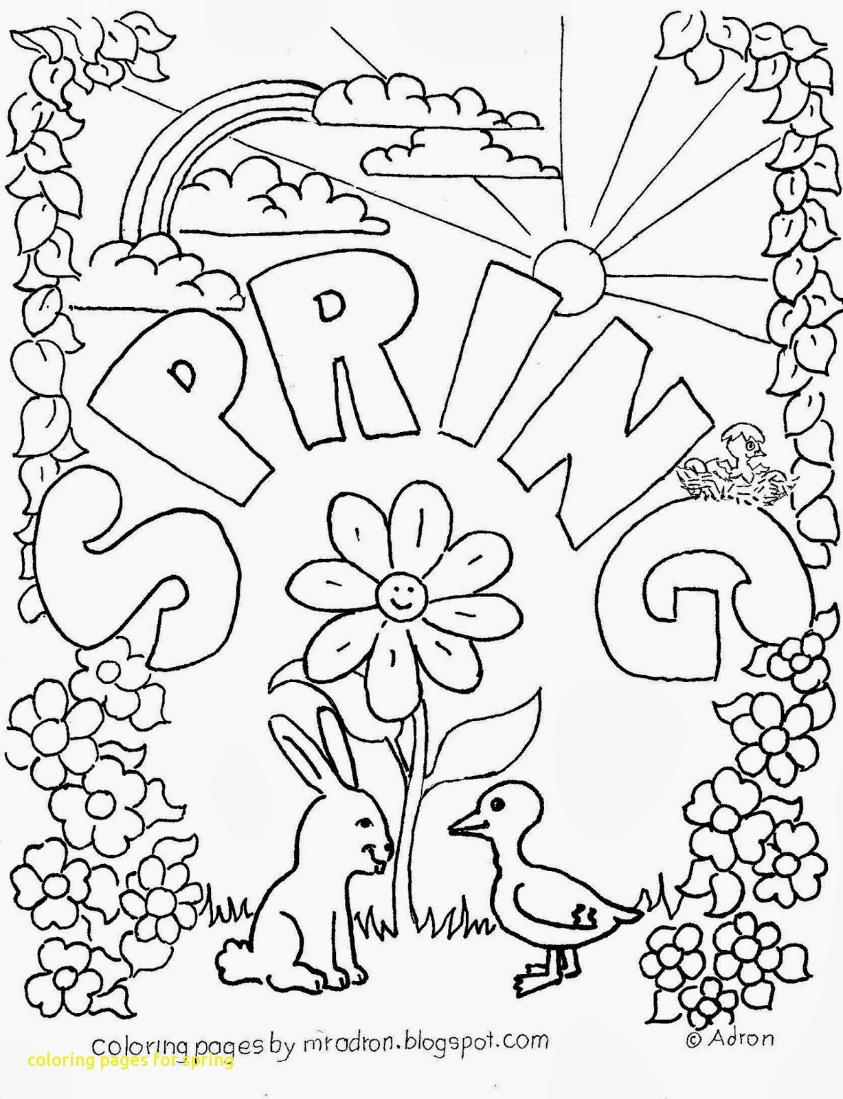 Coloring Book World ~ Spring Coloring Sheets Free Printable Lovely - Free Printable Spring Pictures To Color
