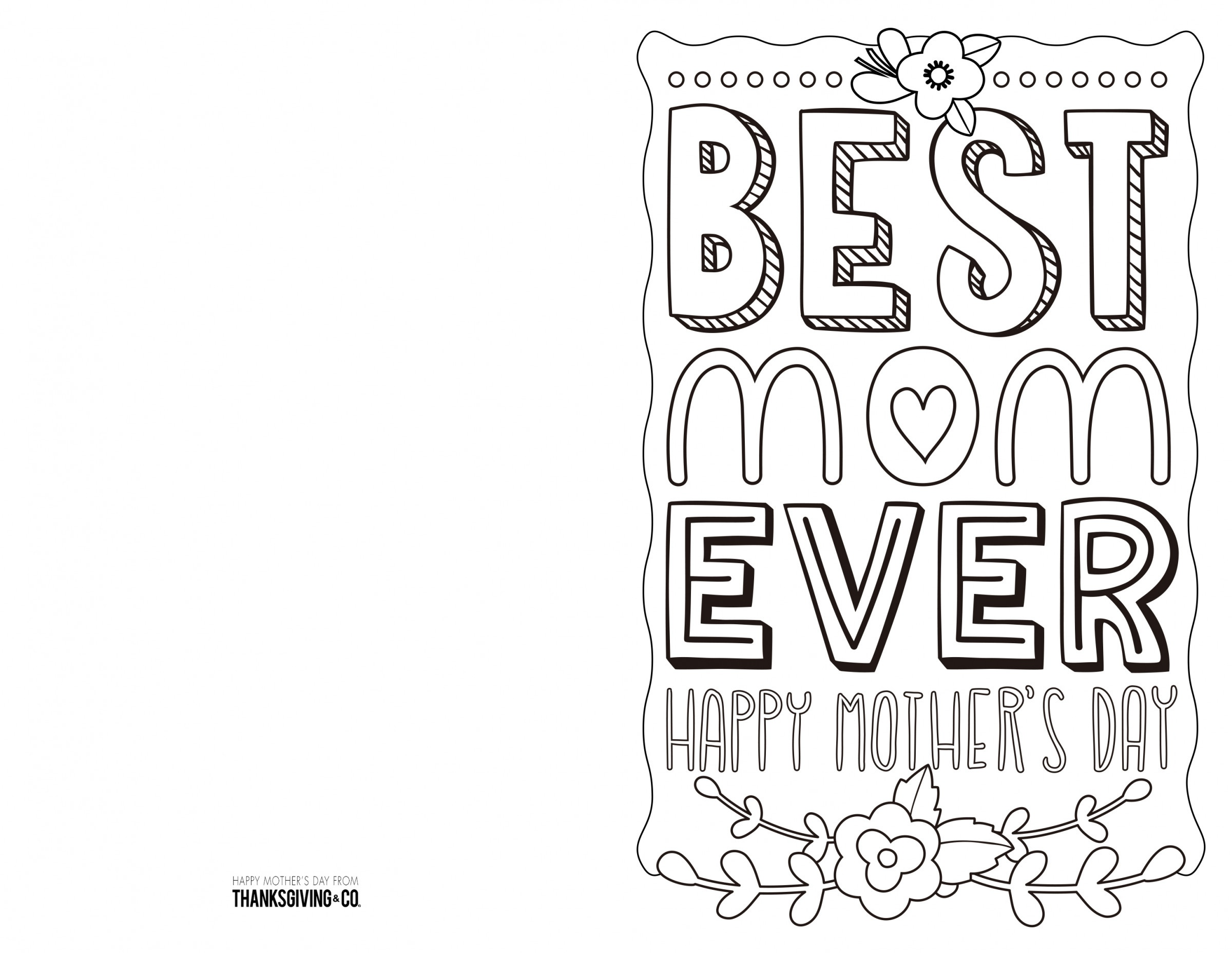 Coloring ~ Coloring Mothers Day Card Free Printable Cards To Color - Free Printable Cards To Color