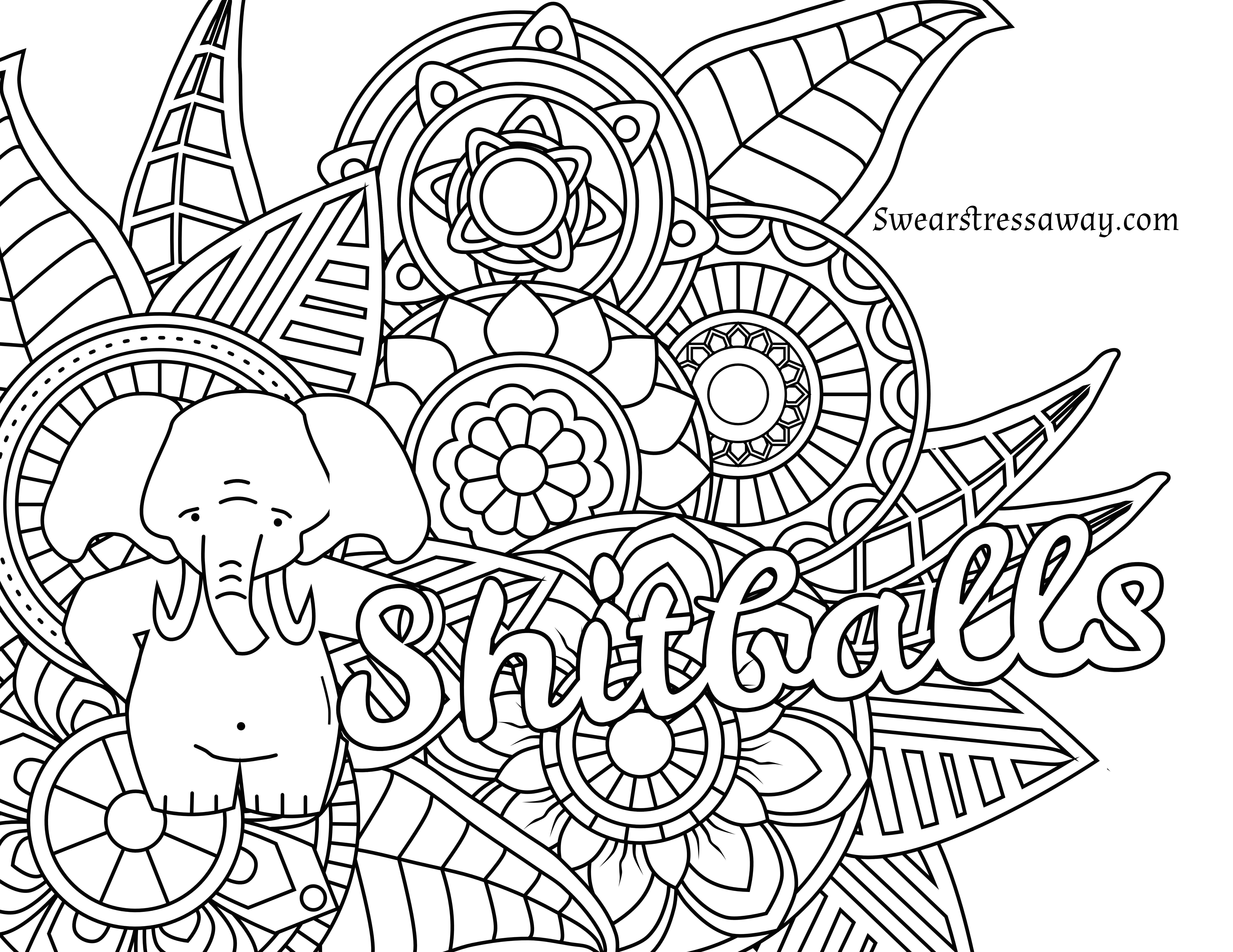 Coloring ~ Curse Word Coloring Pages Free Printable At Getdrawings - Free Printable Coloring Pages For Adults Swear Words