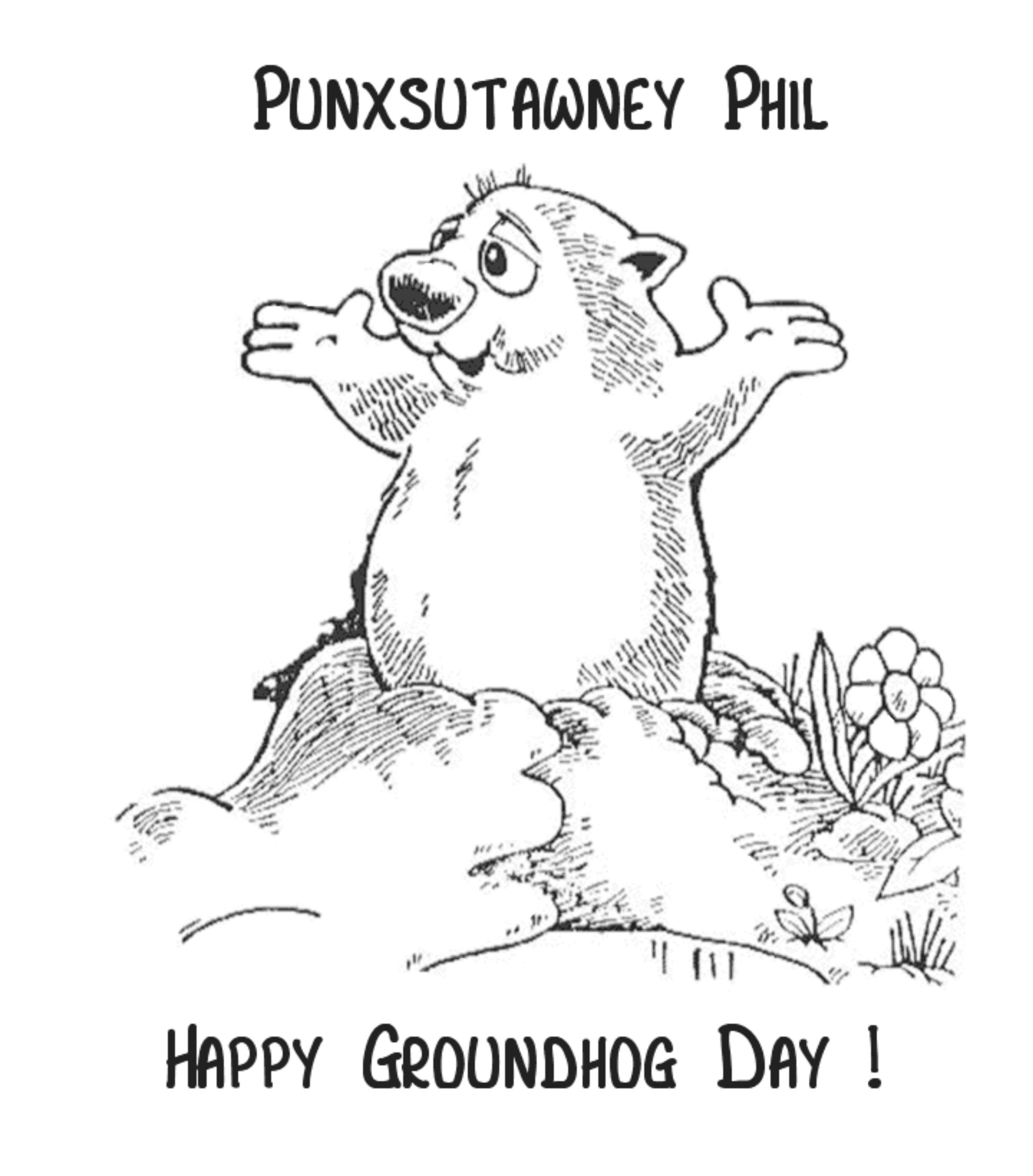 Coloring ~ Groundhog Day Coloring Pages Free Printable For Kids - Free Printable Groundhog Day Booklet