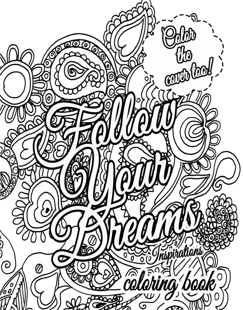 Coloring Ideas : Coloring Ideas Pages Motivational For Adults At - Free Printable Inspirational Coloring Pages