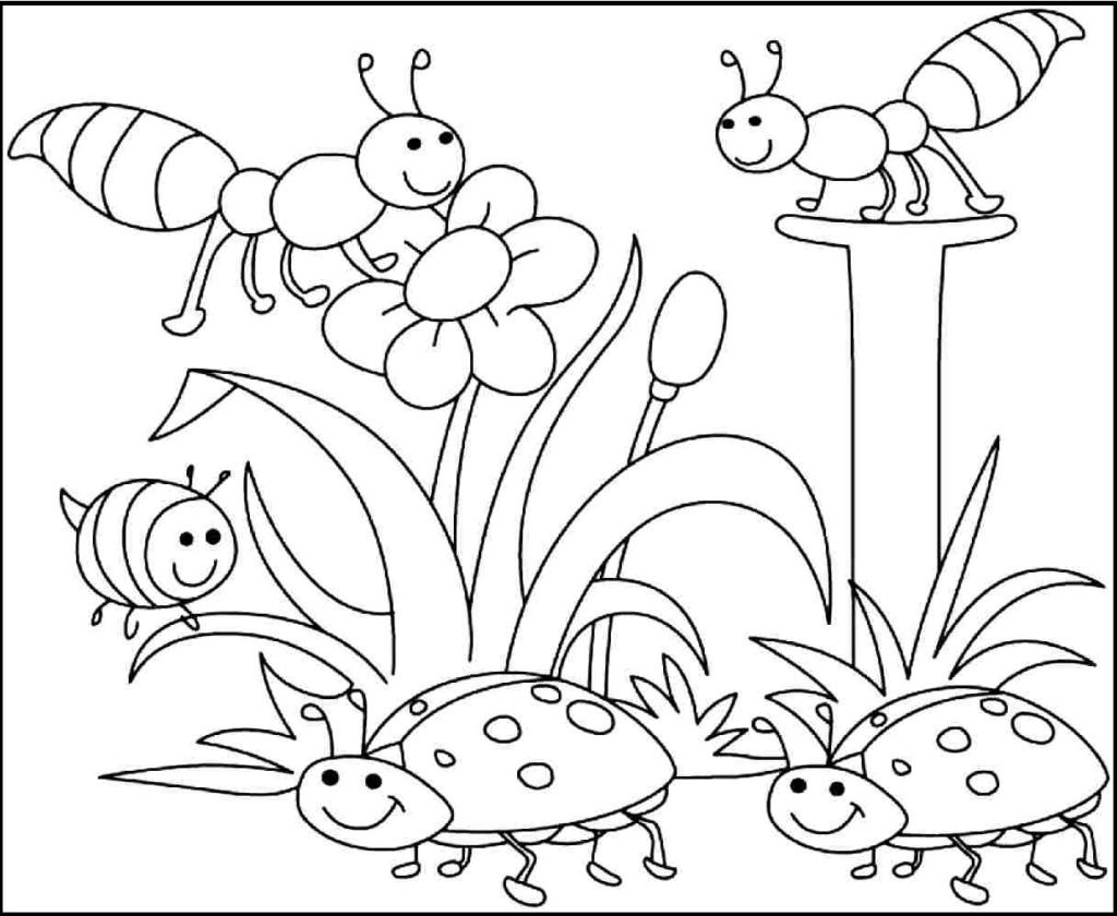 Coloring Ideas : Free Printable Spring Coloring Pages For Pictures - Spring Coloring Sheets Free Printable