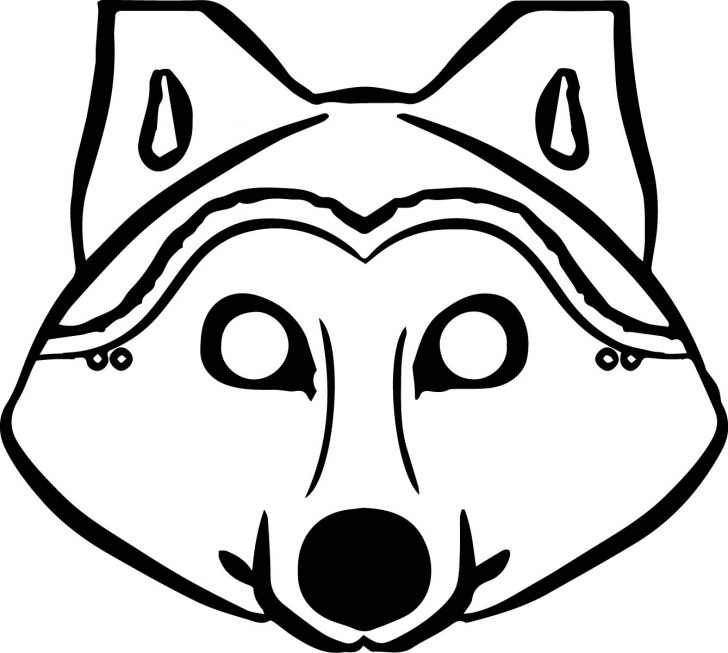 Free Printable Wolf Face Mask