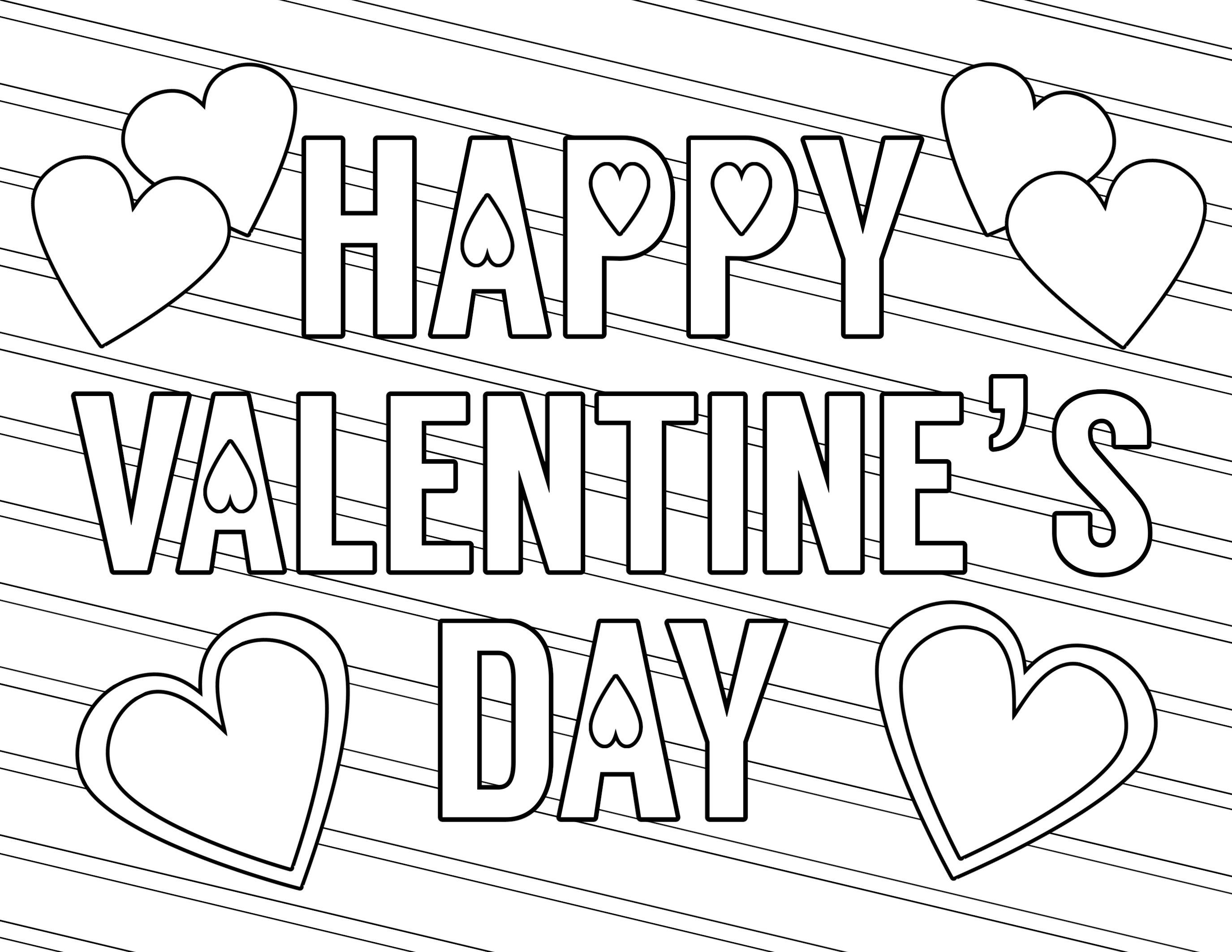 Coloring Ideas : Stunning Free Valentines Day Coloring Pages Page - Free Printable Heart Designs