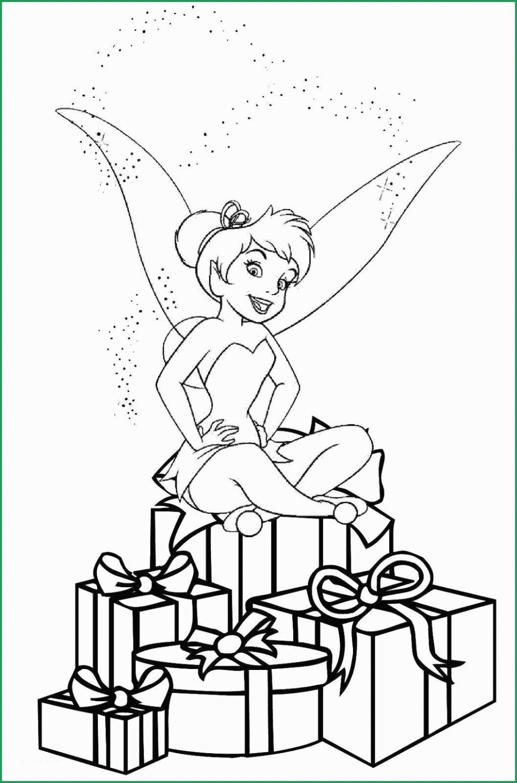 Coloring Ideas : Tinkerbell Coloring Pages Christmas Online - Tinkerbell Coloring Pages Printable Free