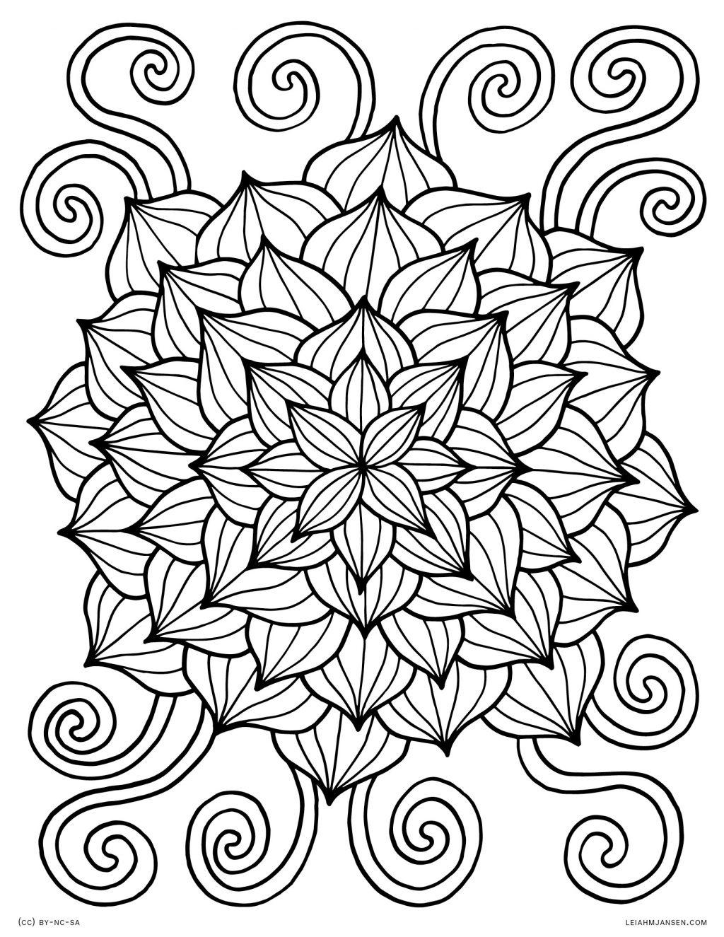 Coloring Page ~ Coloring Page Lmj Lotus Burst Pages Free Printable - Free Printable Coloring Pages