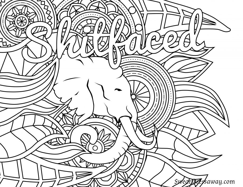 Coloring Page ~ Free Printable Coloring Pages For Adults Amazing - Free Printable Coloring Pages For Adults Only Swear Words