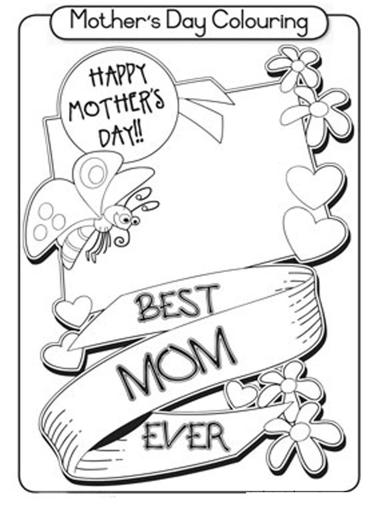 Coloring Page ~ Free Printable Mothers Day Colorings Cards Mothers - Free Printable Mothers Day Coloring Cards