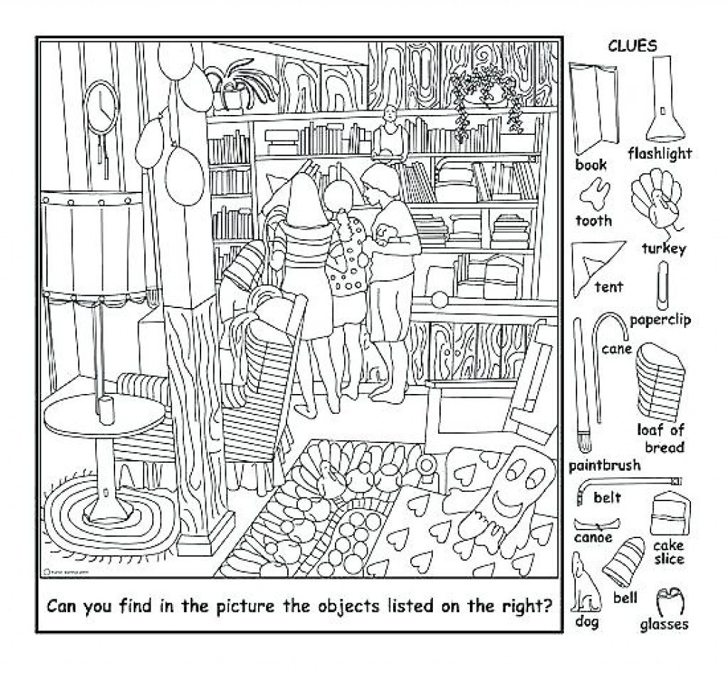 Coloring Page ~ Hiddene Coloring Pages Free Printables - Free Printable Hidden Pictures
