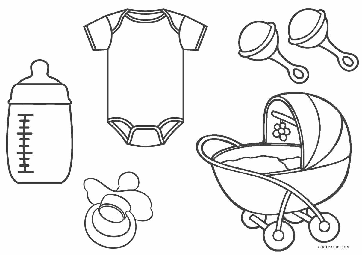 Coloring Pages : Babyhower Coloring Pages Awesome Picture - Free Printable Baby Shower Coloring Pages