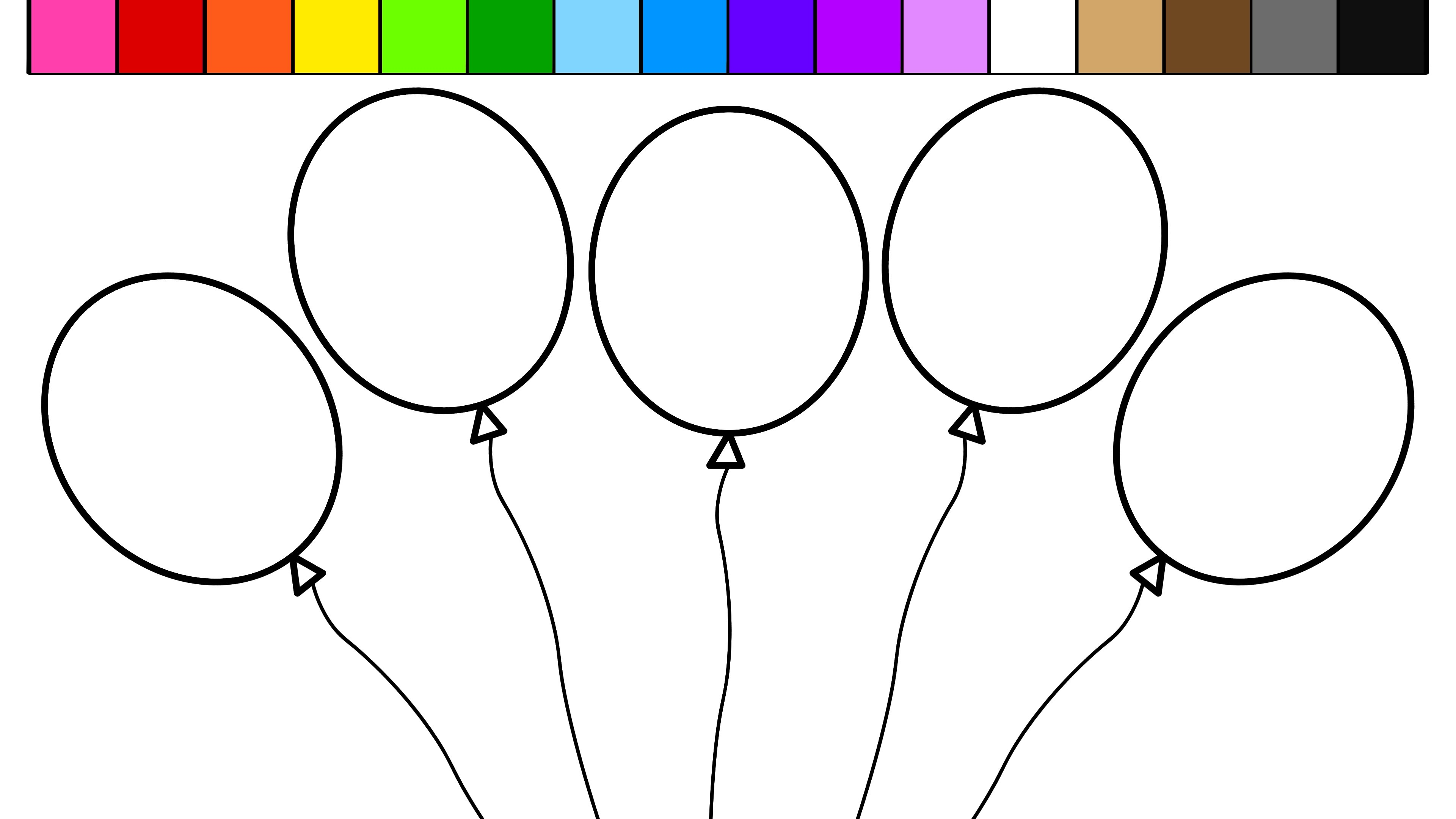 Coloring Pages Balloons With Redgrillo   Coloring Pages - Free Printable Pictures Of Balloons