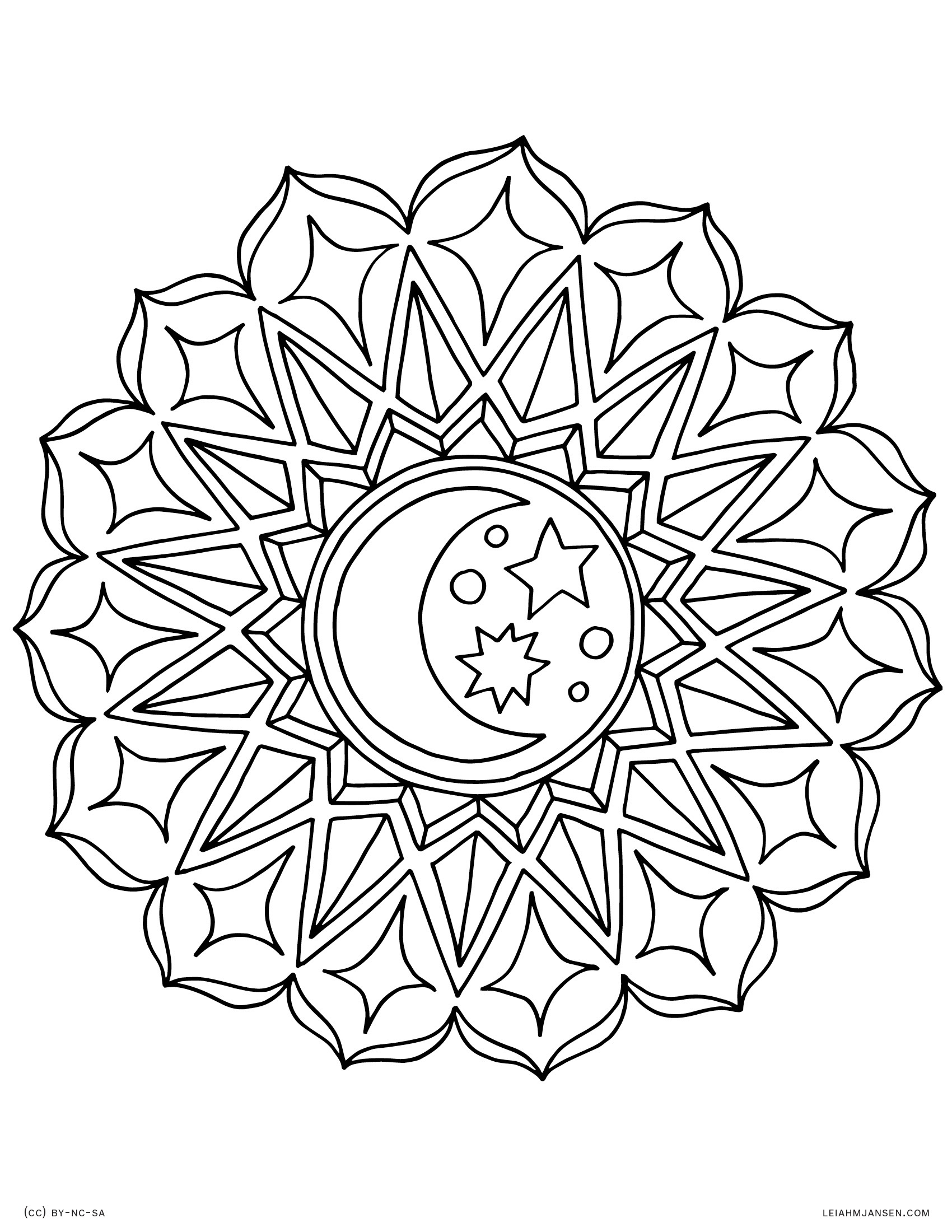 Coloring Pages - Free Printable Mandala Coloring Pages