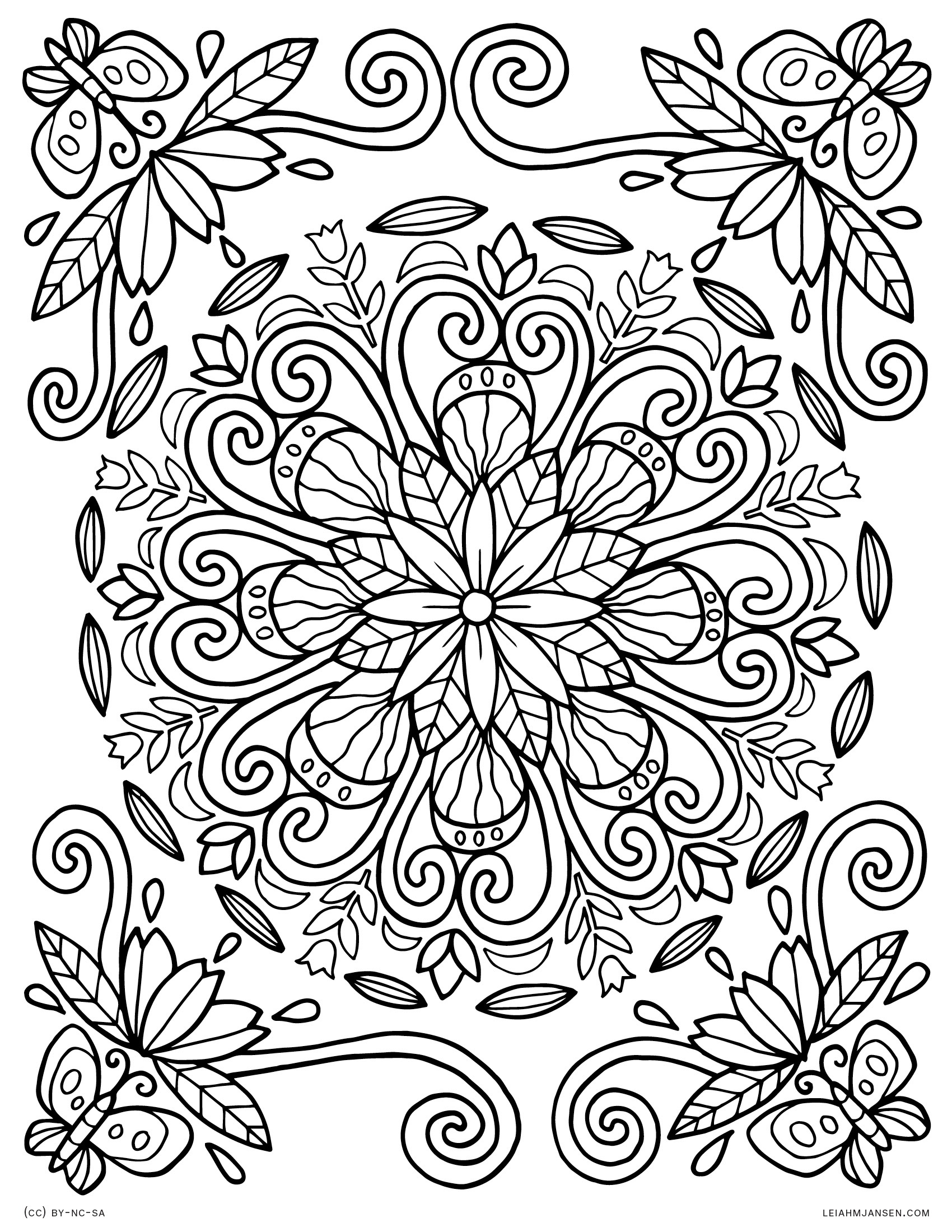 Coloring Pages - Free Printable Nature Coloring Pages