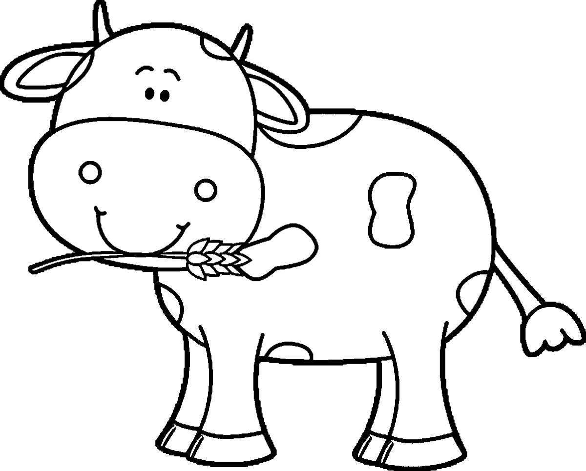 Coloring Pages: Kindergarten Coloring Free Cow Learning Printable - Coloring Pages Of Cows Free Printable
