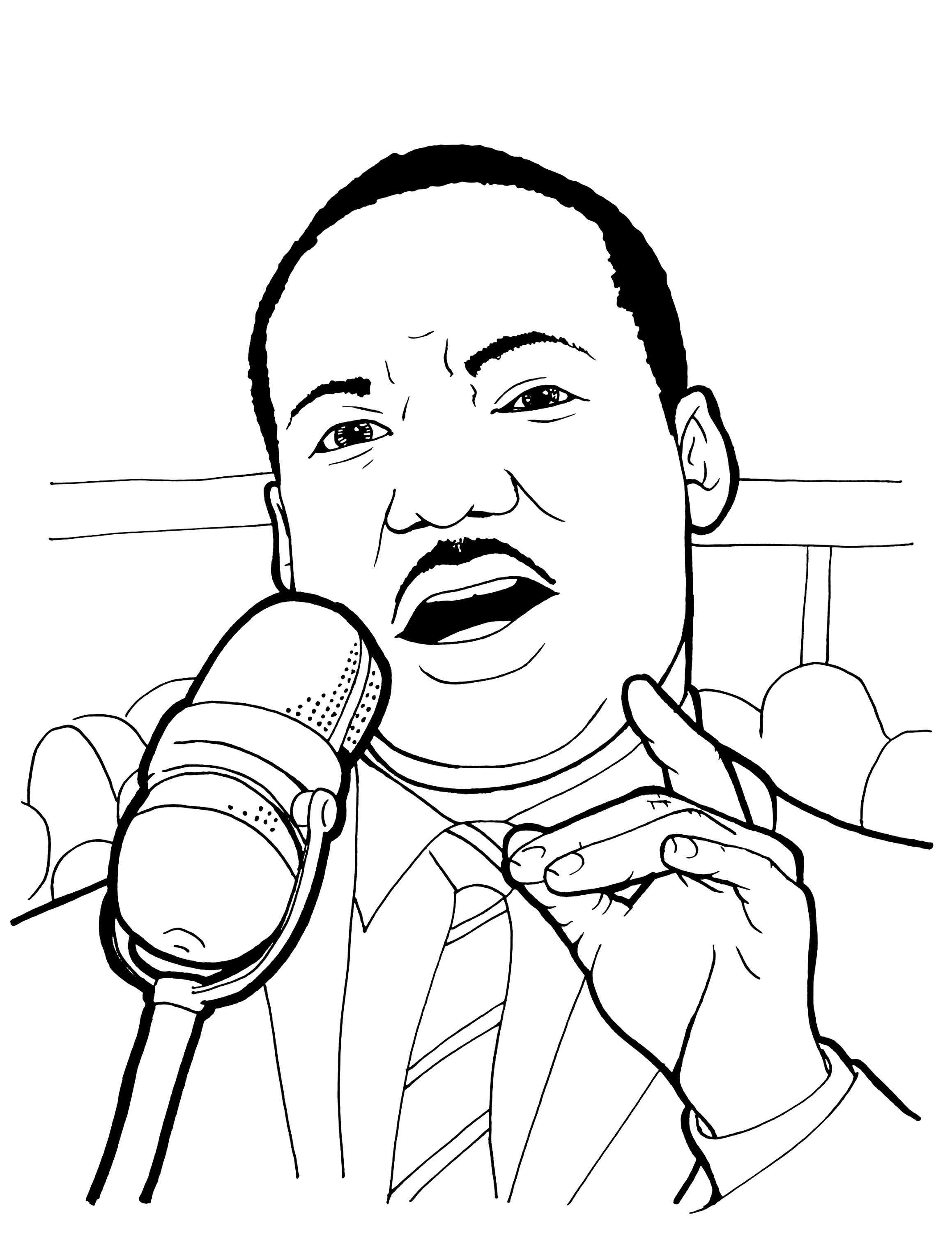 Coloring Pages : Martin Luther King Coloring Pages Jr Page With - Martin Luther King Free Printable Coloring Pages