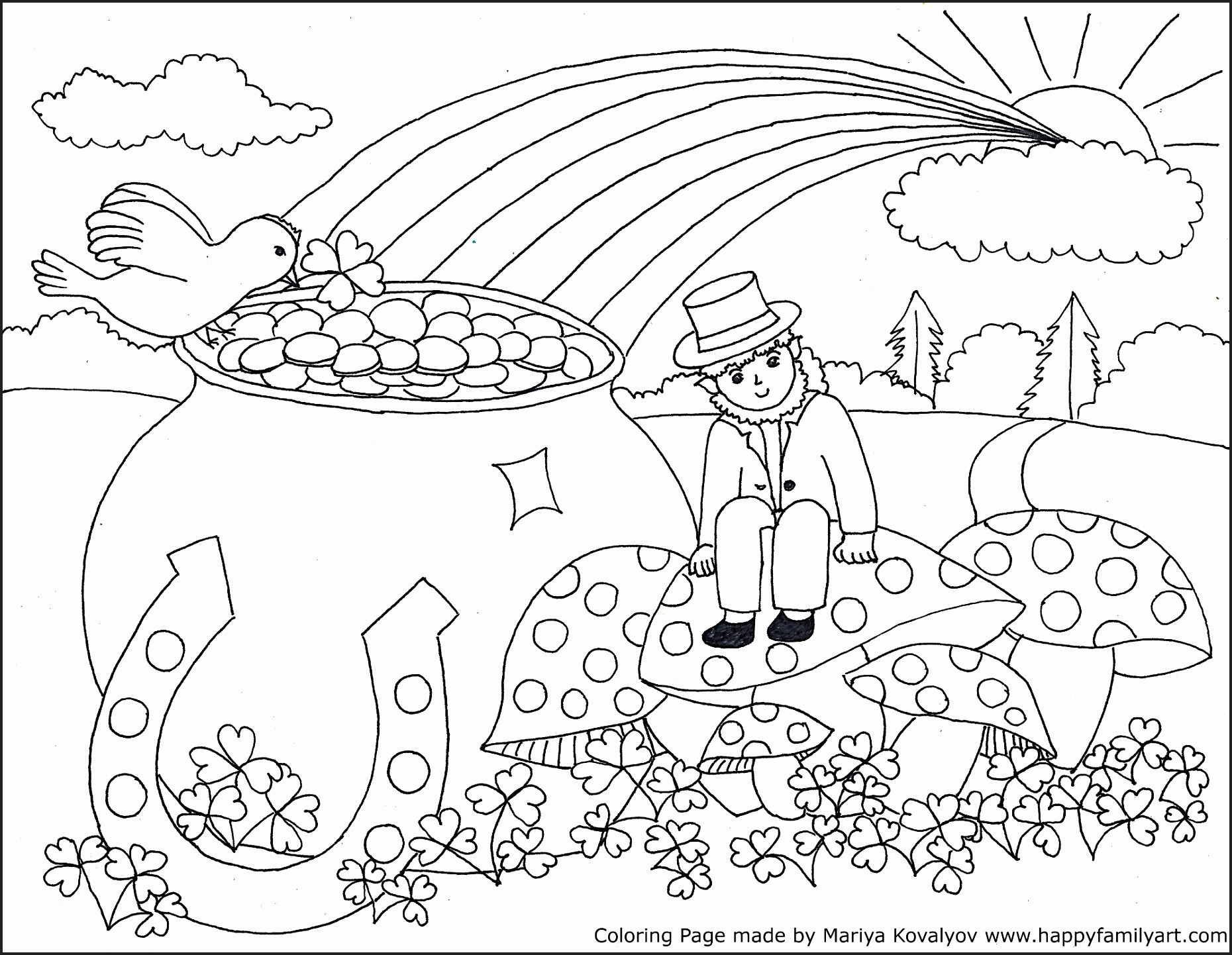 Coloring Pages : St Patricks Dayng Pages For Kids With Medquit Free - Free Printable Saint Patrick Coloring Pages