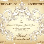 Commitment Ceremony Certificate Design Choices That Wedding Lady   Commitment Certificate Free Printable