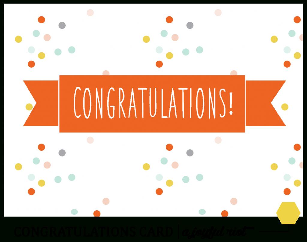 Congratulations Card | Free Printable Friday | A Joyful Riot - Free Printable Congratulations Cards
