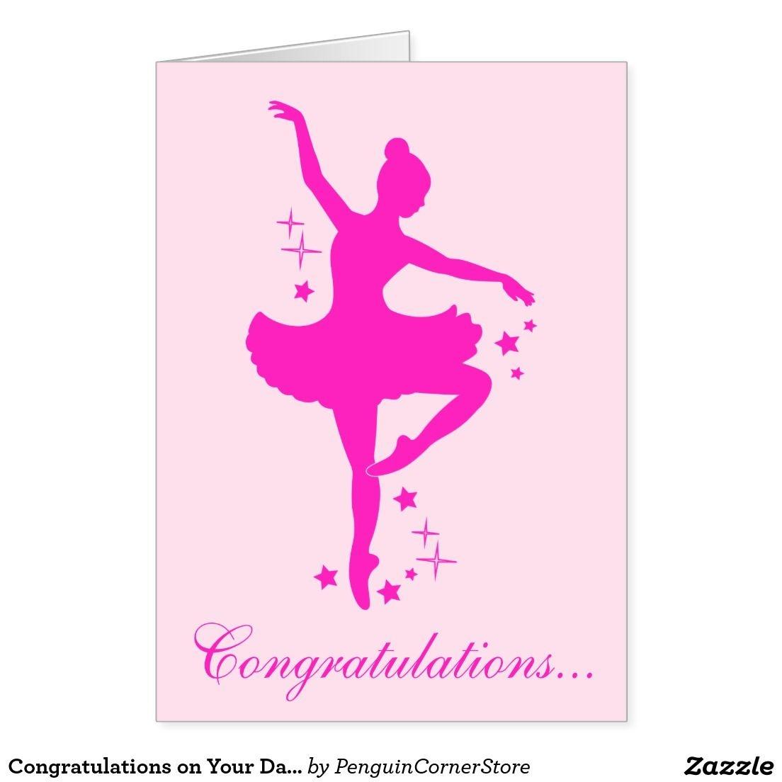 Congratulations On Your Dance Recital Card   Zazzle - Free Printable Dance Recital Cards