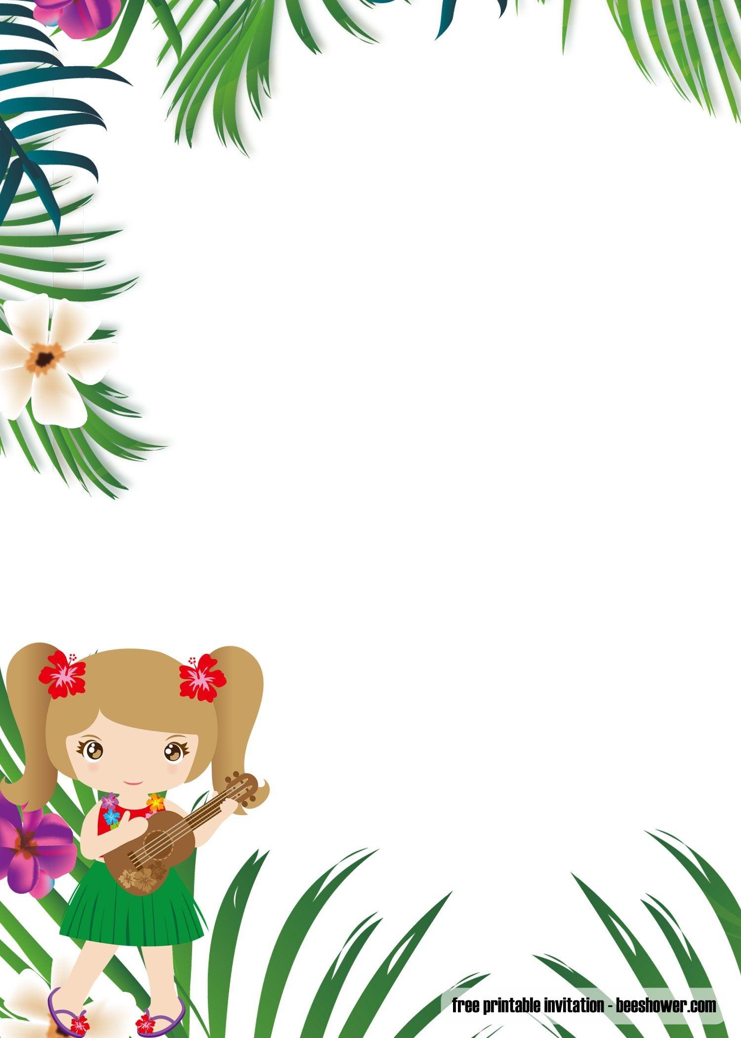 Cool Free Luau Baby Shower Invitations Templates | Beeshower | Baby - Free Printable Luau Baby Shower Invitations