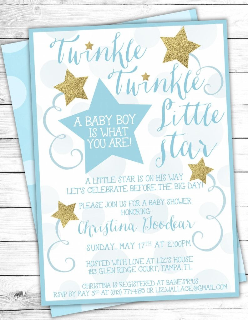 Cool How To Create Twinkle Twinkle Little Star Baby Shower - Free Printable Twinkle Twinkle Little Star Baby Shower Invitations
