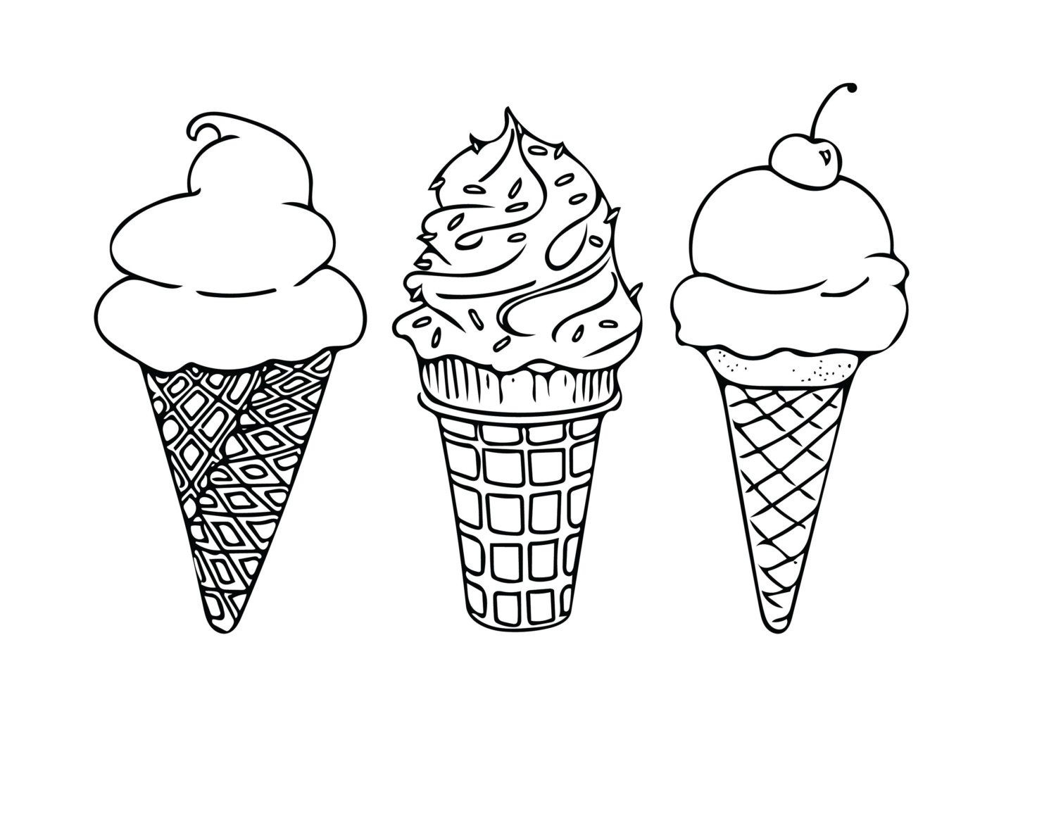 Cool Ice Cream Coloring Pages Ideas | Coloring Pages For Kids | Ice - Ice Cream Cone Template Free Printable