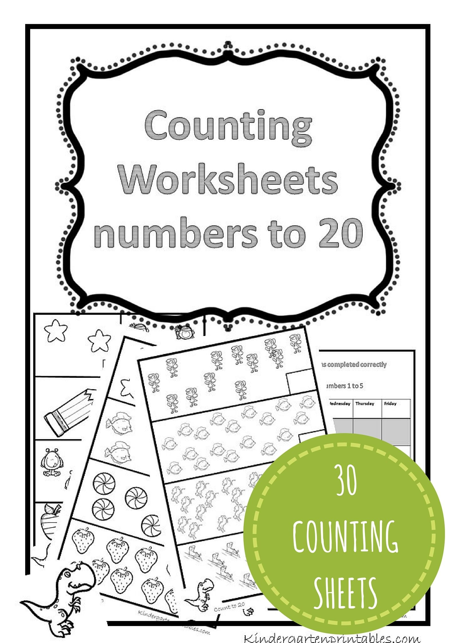 Counting Worksheets 1-20 Free Printable Workbook Counting Worksheets - Free Printable Counting Worksheets 1 20