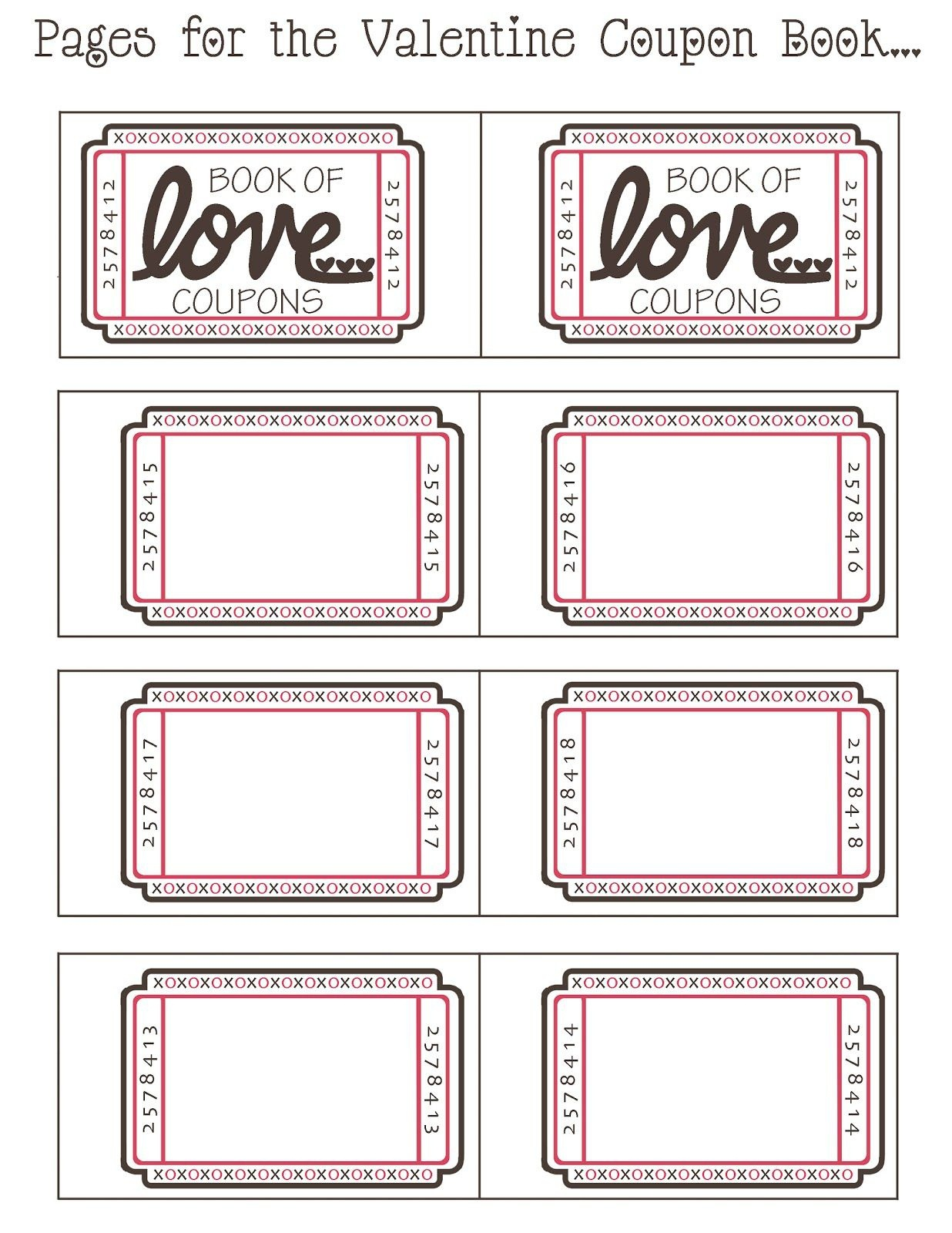 Coupon Book Ideas For Husband. Blank Love Coupon Templates Printable - Free Printable Coupon Templates