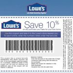 Coupons: Five (5X) Lowes 10% Off Printable Coupons   Exp 5/31/17   Lowes Coupon Printable Free