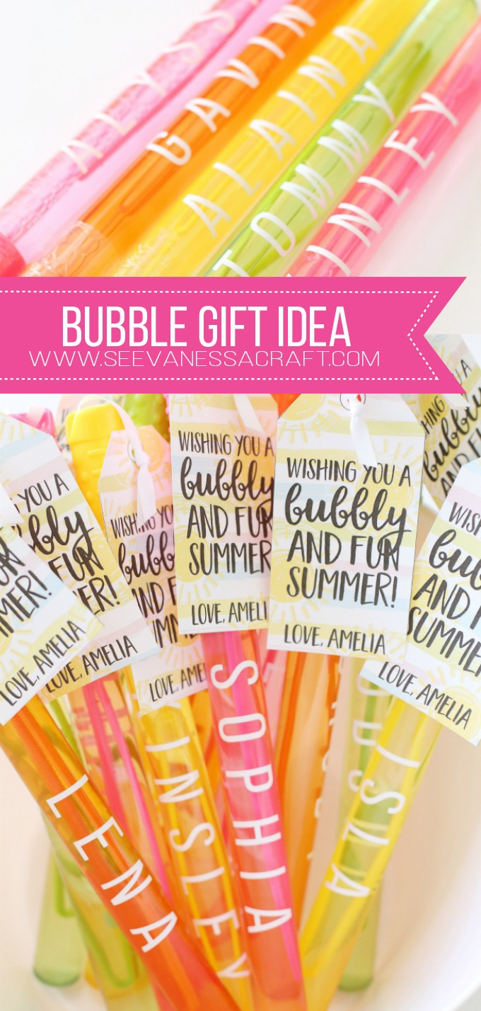 Craft: End Of School Year Bubble Gift Idea - See Vanessa Craft - Free Printable Gift Tags For Bubbles
