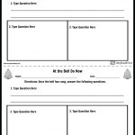 Create Bell Ringer Activities | Bell Ringer Template   Free Printable Bell Ringers