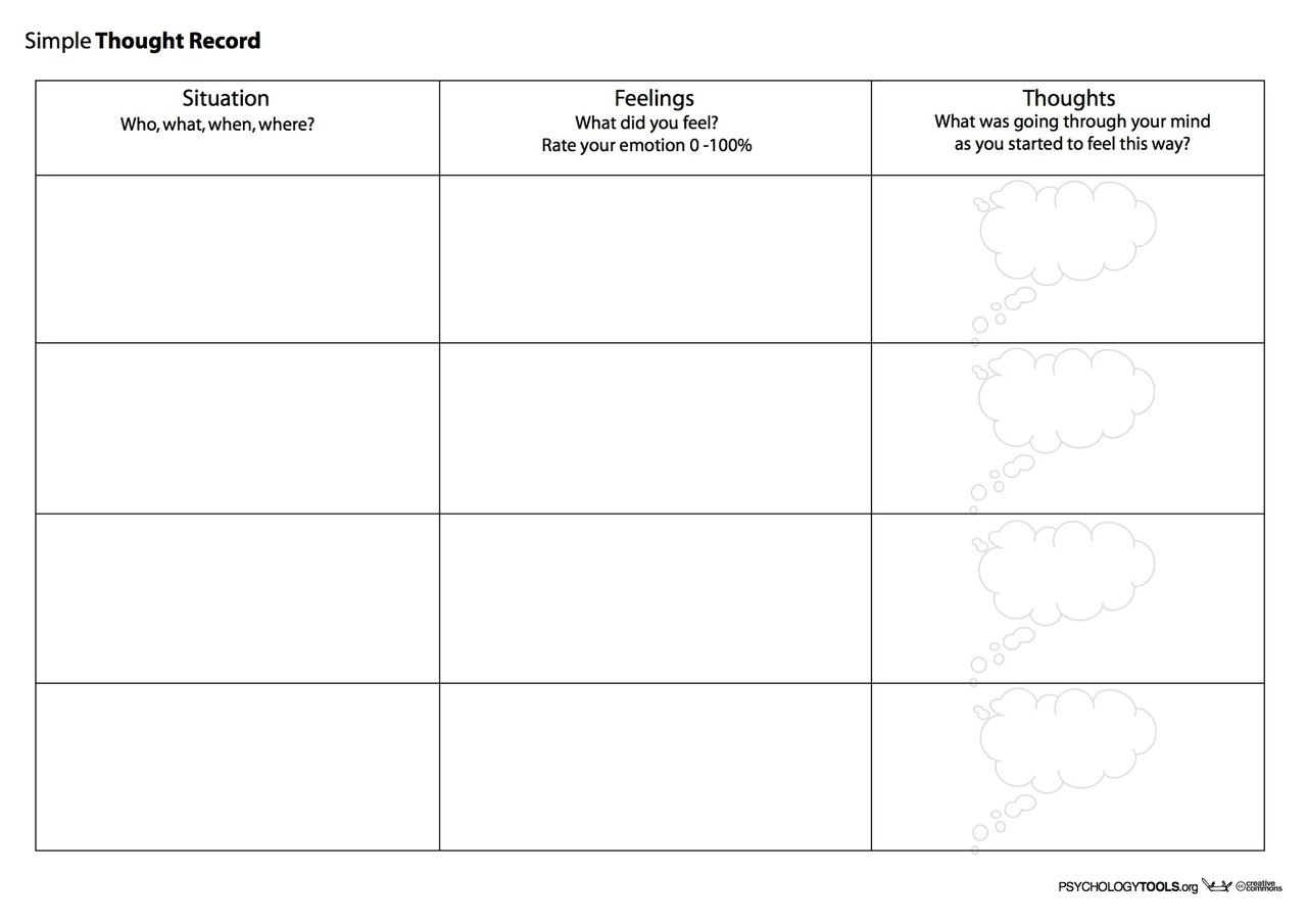 Creative Clinical Social Worker: Downloadable Cognitive Behavioral - Free Printable Counseling Worksheets