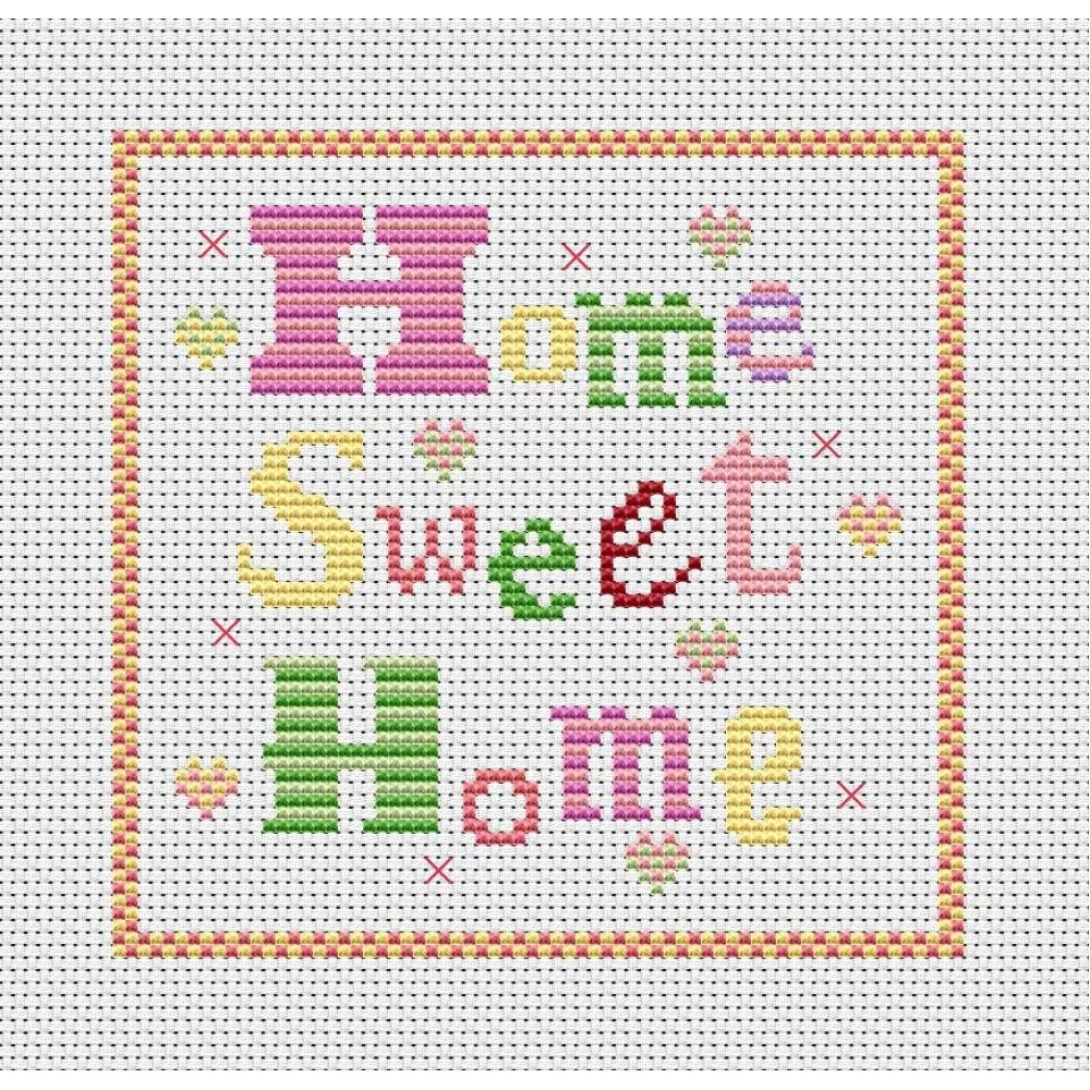 Cross Stitch Patterns Free Printable | Home Sweet Home Free Chart - Needlepoint Patterns Free Printable