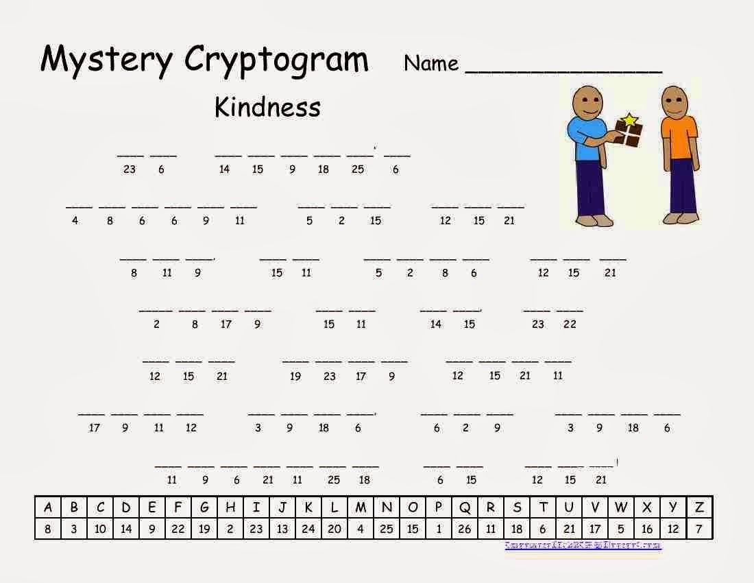 Cryptograms!   Cjrl: Kids Zone - Free Printable Cryptograms Pdf