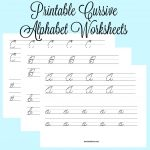 Cursive Alphabet Worksheets – Teach Beside Me   Free Printable Cursive Alphabet