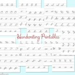 Cursive Handwriting Practice Sheets #backtoschoolweek   Kleinworth & Co   Free Printable Worksheets Handwriting Practice
