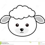 Cute Sheep Face | Plaasdiere | Sheep Face, Sheep Crafts, Face Template   Free Printable Sheep Mask