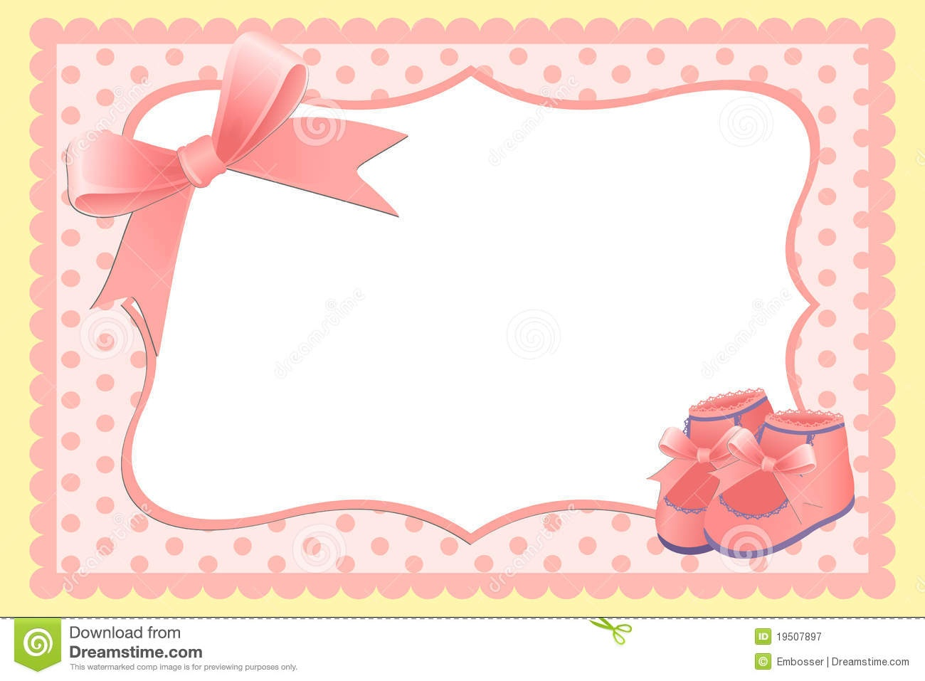 Cute Template For Baby's Card Stock Vector - Illustration Of Holiday - Free Printable Baby Shower Cards Templates