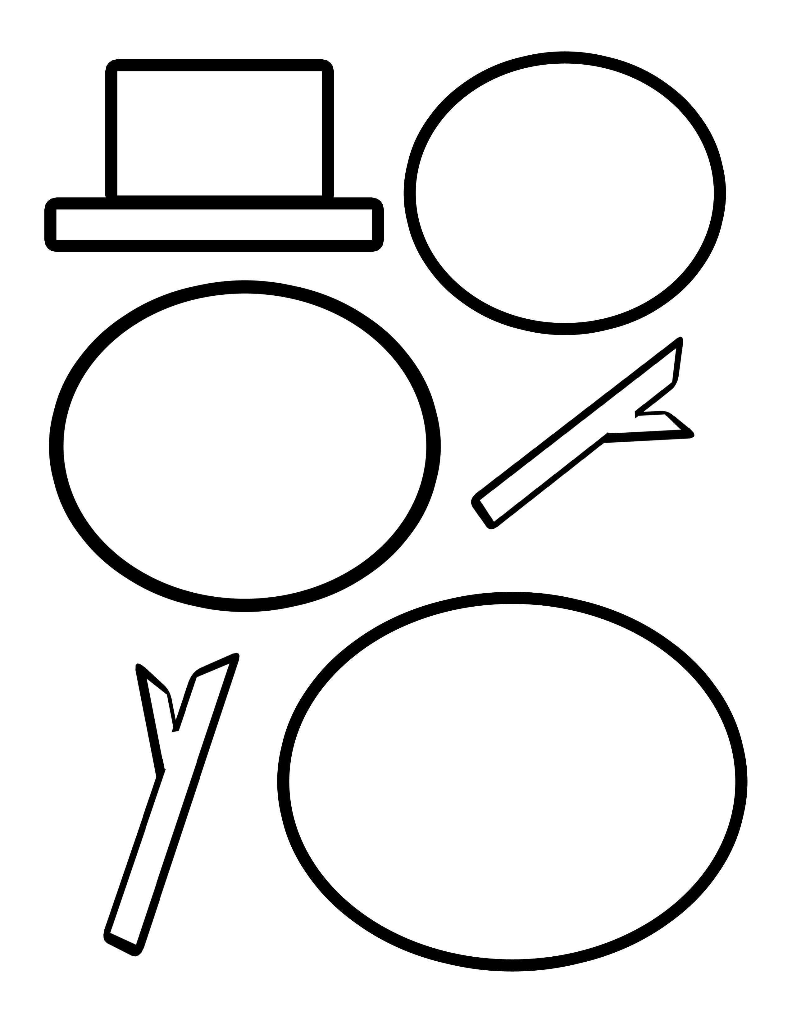 Cutting Templates | Templates | Snowman, Snowman Hat, Snowman Crafts - Free Printable Snowman Hat Templates