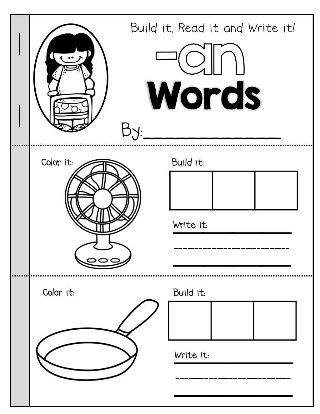 Cvc Booklets (Build It, Read It, Write It)! | Grand Education - Free Printable Word Family Mini Books