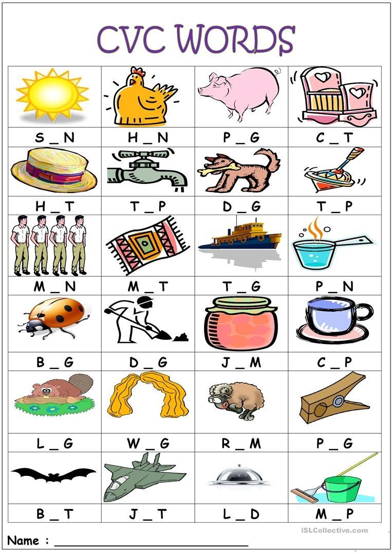 Cvc Words- Medial Sounds Worksheet - Free Esl Printable Worksheets - Cvc Words Worksheets Free Printable