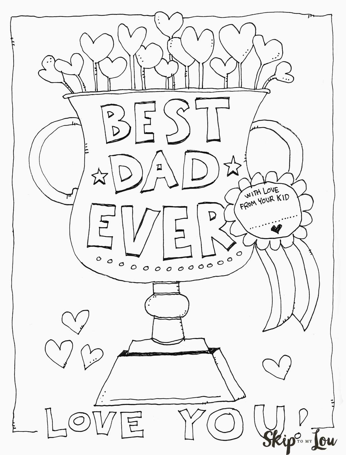 Dad Coloring Page   Father's Day   Kids Fathers Day Crafts, Fathers - Free Printable Fathers Day Cards For Preschoolers