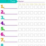 Daily Responsibilities Chart For Kids! Free Printable To Help   Free Printable Toddler Chore Chart