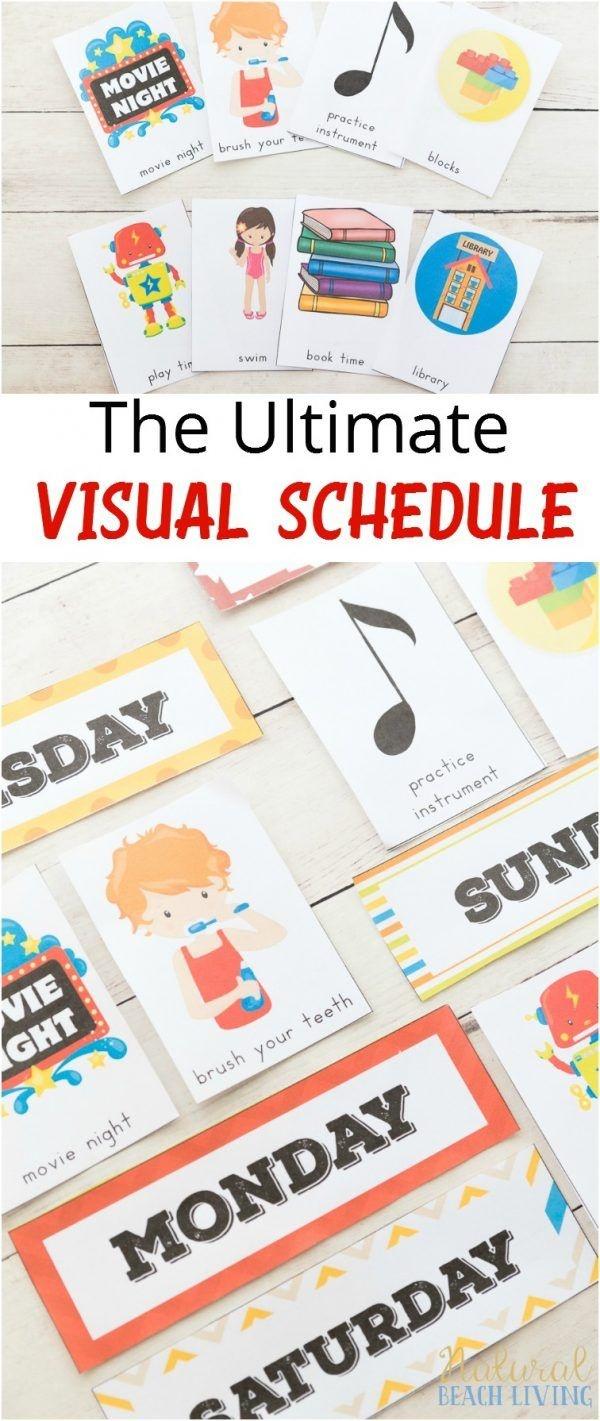 Daily Visual Schedule For Kids Free Printable | Kids Crafts And - Free Printable Schedule Cards For Preschool