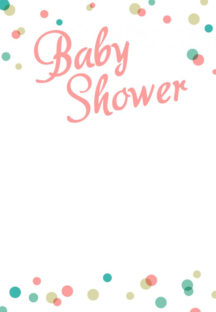 Baby Shower Templates Free Printable