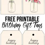 Darling (And Free) Printable Birthday Tags With Beautiful Florals   Free Printable Birthday Tags