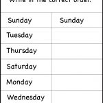 Days Of The Week – 1 Worksheet / Free Printable Worksheets   Free Printable Days Of The Week Cards